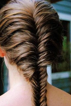 Easy DIY French Fishtail Braid Hairstyle for 2014 - Brown hair, id Hairstyle, Back to school hairstyles