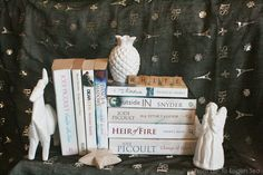 Rainbow Books - White Books and pretty things
