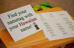 Hawaiian name#Hawaiian #hawaii-party #beach #luau #lilo & stitch #tiki