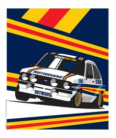 Ford Escort RS2000 Art Print by Ricardo Santos | Society6