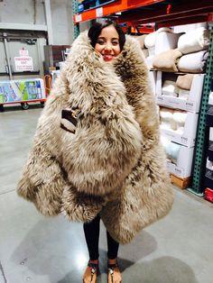 Get that fur coat for the winter ladies :)!