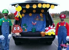 a new fun tradition is to get together with friends and a do a Trunk-Or-Treat where families decorate their cars in different themes with costumes to match to hand out candy. Which of these is your favorite?
