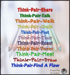 How to use variations on Think-Pair-Share to make your classroom more engaging!