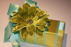 Charteuse Velvet Pin used as embellishment by A Gift Wrapped Life.