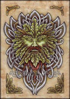 An oak Green Man by Ash Harrison