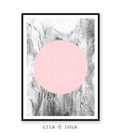 Printable Womans Gift Geometric Print Marble Print by lilandlola