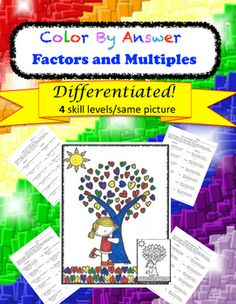 Students require practice of every concept they learn, why not let them ENJOY practicing?! This resource allows students to practice their newly learned concepts and match the numbers to the colors in order to color a picture. There are 4 levels that offer easy differentiation as each level produces the same colored picture.This also helps teachers quickly check for correctness.These work great as formal assessment, stations, early finisher work, small group, independent practice, or even…