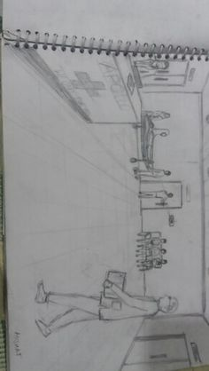 Perspective Sketch, Entrance Exam, Painting People, Pencil Art, Bodies, Composition, Sketches, Architecture, Drawings
