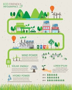 Vector Art : green eco stat