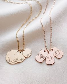 Triple Disc & Triple Dog Tag Necklaces 😍 Dog Tag Necklace, Gold Necklace, Dog Tags, Necklaces, Dogs, Instagram, Jewelry, Gold Pendant Necklace, Jewlery