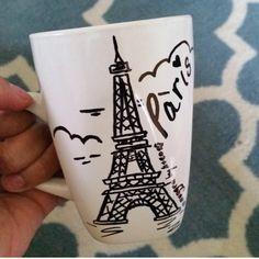 Paris Mug by MuggedbyHenryandCo on Etsy