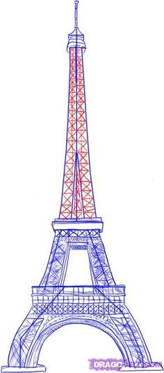 Learn to draw the Eiffel Tower on this helpful site.