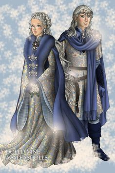 Winter fun! ~ by Inanna ~ created using the LotR Hobbit doll maker | DollDivine.com