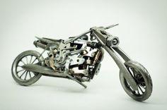 Motocicleta del arte del metal por MadWeldersShop en Etsy
