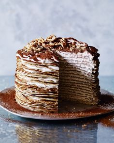 Tiramisu meets crêpe in this decadent, yet surprisingly easy, layer cake. Serve at a dinner party with lashings of cream and you're bound to impress your guests.