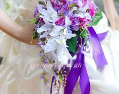Diameter 7.9 inches Bridal Bouquet, Wedding Bouquet,Silk Flower,  Silk Bridal Bouquet  F17