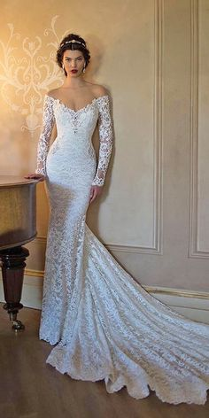 30 Fall Wedding Dresses With Charm ❤ See more: http://www.weddingforward.com/fall-wedding-dresses/ #wedding #dresses #fall