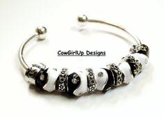 Yin Yang Euro Bracelet Yin Yang Cuff Bracelet by CowGirlUpDesigns, $19.00