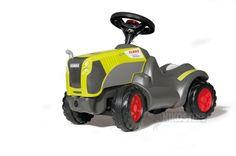 Skubber rollyMinitrac Claas Xerion. Rolly toys mini traktor er en skubber uden pedaler i det kendte Claas Xerion udseende. Motorhjelmen kan åbnes og afslører et praktisk opbevaringrum til fx yndlingslegetøjet. Sjovt design og gode detaljer som knæfordybning for de ældre børn og støjsvage hjul.
