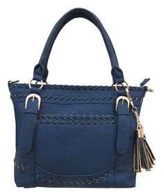 Look what I found on #zulily! Navy Tassel Tote by Under One Sky #zulilyfinds