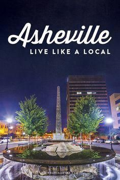 My favorite city. Experience Asheville, North Carolina like a local with this guide! Weekend Trips, Vacation Trips, Dream Vacations, Vacation Spots, Day Trips, Vacation Ideas, Weekend Getaways, Nc Mountains, Blue Ridge Mountains