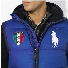 Gilet Ralph Lauren Homme Big Pony Italia Bleu