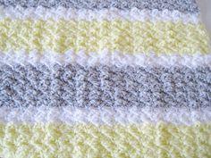 Crochet Baby Blanket Baby Shower Gift Baby Travel by PeppersAttic