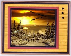 Stampscapes Retreat 2010 - sunset by Illinois Marge Photograph stamping