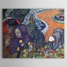 Famous Oil Painting Memory of the Garden of Eden 400 by Van Gogh - WallArtBox