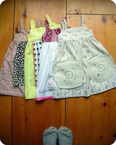 four farm girl dresses by heartbreak homestead, via Flickr