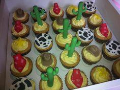 Cowboy themed cupcakes