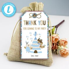Tribal Wild One Thank You Tags, Boho Woodland Animals, Party Instant Download Printable Template Editable YOU PRINT Thank You Tags, Wild Ones, I Party, Woodland Animals, Party Printables, Birthday Celebration, Save Yourself, Templates, Boho