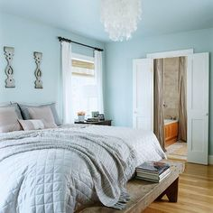 Painting your ceiling is a quick way to make your space cozy and inviting: http://www.bhg.com/decorating/budget-decorating/cheap/low-cost-bedroom-updates/?socsrc=bhgpin011014painttheceiling&page=17