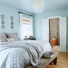 Light blue bedroom light blue bedroom paint colors the best home decor bedroom design light blue Blue Bedroom Paint, Bedroom Wall Colors, Home Decor Bedroom, Budget Bedroom, Bedroom Turquoise, White Bedroom, Bedroom Ideas, Cottage Style Bedrooms, Blue Painted Walls