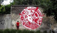 KENOR http://www.widewalls.ch/artist/kenor/ #streetart #urbanart #graffiti & H101 in Barcelona