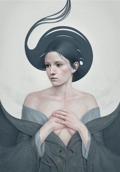 Beautiful Female Portrait Art by Diego Fernandez