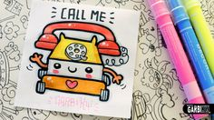 Kawaii Toy Telephone - How To Draw Cute Toys by Garbi KW