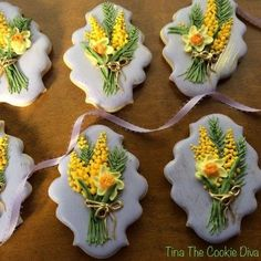63 Trendy Ideas For Cupcakes Easter Decoration Beautiful Mother's Day Cookies, Tea Cookies, Fancy Cookies, Royal Icing Cookies, Spice Cookies, Holiday Cookies, Cupcake Cookies, Easter Cupcakes, Easter Cookies