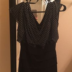 Dress Black dress with whisky tiny polka dots. Beautiful dress. Worn once. Dresses Mini