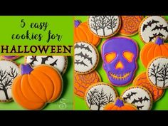 5 Easy Cookies for Halloween! Cute Halloween Food, Halloween Cookie Recipes, Halloween Cookies, Halloween Party Costumes, Oreo Cookies, Sugar Cookies, Aldi Recipes, Cookie Videos, Supply List