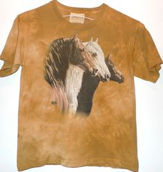 Horses Vintage TShirt The Mountain Cotton Tee by BibbysRocket