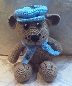 My Floppy Teddy - Crochet creation by Craftybear