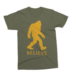 Pointless Clothing Co. Believe In Bigfoot T-Shirt