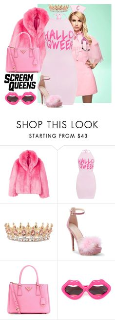 """""""DIY Scream Queens Halloween costume"""" by aliroseheart ❤ liked on Polyvore featuring MANGO, WithChic, Prada and Linda Farrow"""
