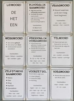Posters woordsoorten - Juffrouw Femke Learning Quotes, Kids Learning, Mobile Learning, Primary Education, Kids Education, Education Quotes, Special Education, Educational Leadership, Educational Technology