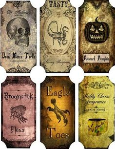 Details about Vintage inspired Halloween 6 large bottle label stickers scrapbooking crafts- … - Retro Halloween, Holidays Halloween, Halloween Crafts, Halloween Decorations, Halloween Magic, Halloween Drawings, Halloween Stuff, Halloween Pumpkins, Halloween Makeup