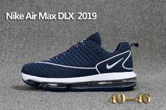 852d7b9fb0a5 Mens Nike Air Max DLX 2019 Running Shoes Navy Blue White 849559 005 Nike  Air Max