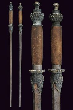 A pair of maces -   19th Century.  China.
