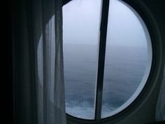 The window in our room on the Royal Caribbean.  Notice the Atlantic ocean.