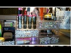 Diy dollar tree elegant rotating bling mirrored makeup organizer dollar tree diy luxe double sided mirrored rotating vanity youtube makeup organizationroom organizationlipstick organizerdollar solutioingenieria Gallery